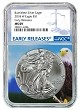 2018 W Burnished Silver Eagle NGC MS69 - Early Releases - Blue Label - Eagle Core - Presale