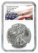 2018 W Burnished Silver Eagle NGC MS69 - Early Releases - White Core - Flag Label