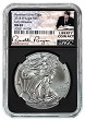 2018 W Burnished Silver Eagle NGC MS69 - Early Releases - Black Core - Liberty Coin Act Label