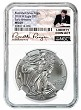 2018 W Burnished Silver Eagle NGC MS69 - Early Releases - White Core - Liberty Coin Act Label