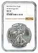 2018 W Burnished Silver Eagle NGC MS70 - Brown Label