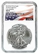 2018 W Burnished Silver Eagle NGC MS70 - Early Releases - White Core - Flag Label