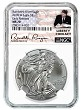 2018 W Burnished Silver Eagle NGC MS70 - Early Releases - White Core - Liberty Coin Act Label