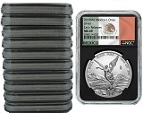 2018 Mexico 1oz Silver Onza Libertad NGC MS69 - Early Releases - Black Core - Flag Label - 10 Pack