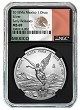 2018 Mexico 1oz Silver Onza Libertad NGC MS69 - Early Releases - Black Core - Flag Label