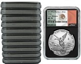 2018 Mexico 1oz Silver Onza Libertad NGC MS70 - Early Releases - Black Core - Flag Label - 10 Pack - Presale