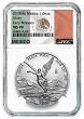2018 Mexico 1oz Silver Onza Libertad NGC MS70 - Early Releases - White Core - Flag Label - Presale