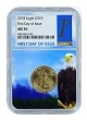 2018 $10 American Gold Eagle NGC MS70 - First Day Issue - Eagle Core