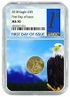 2018 $5 American Gold Eagle NGC MS70 - First Day Issue - Eagle Core