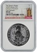 2018 Great Britain 2oz Silver Queens Beast Unicorn NGC MS69 - Early Releases - Tower Label