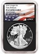 2018 S 1oz Silver Eagle Proof NGC PF69 UC - Early Releases - Black Core - Flag Label