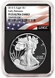 2018 S 1oz Silver Eagle Proof NGC PF70 UC - Early Releases - Black Core - Flag Label