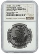2018 Great Britain 1oz Silver Britannia - Radial Sunburst NGC Brilliant Uncirculated