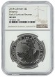 2018 Great Britain 1oz Silver Britannia - Radial Sunburst NGC MS69 - Brown Label