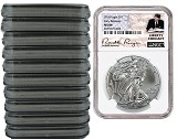 2018 1oz Silver American Eagle NGC MS69 - Early Releases - Liberty Coin Act Label - 10 Pack