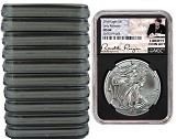2018 1oz Silver American Eagle NGC MS69 - Early Releases - Liberty Coin Act Label - Balck Core - 10 Pack