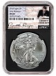 2018 1oz Silver American Eagle NGC MS69 - Early Releases - Liberty Coin Act Label - Black Core