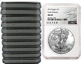 2018 1oz Silver American Eagle NGC MS69 - Early Releases - Liberty Label - 10 Pack - Presale