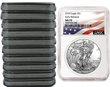 2018 1oz Silver American Eagle NGC MS70 - Early Releases - Flag Label - 10 Pack - Presale