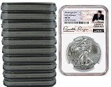 2018 1oz Silver American Eagle NGC MS70 - Early Releases - Liberty Coin Act Label - 10 Pack