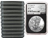 2018 1oz Silver American Eagle NGC MS70 - Early Releases - Liberty Label - Black Core - 10 Pack - Presale