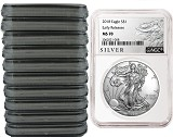 2018 1oz Silver American Eagle NGC MS70 - Early Releases - Liberty Label - 10 Pack - Presale
