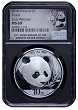 2018 China 10 Yuan Silver Panda NGC MS69 - Early Releases - Black Core - 35th Anniversary Label