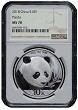 2018 China 10 Yuan Silver Panda NGC MS70 - Brown Label