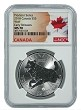 2018 Canada 1oz Predator Series Silver Wolf NGC MS70 Early Releaes - Flag Label