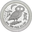 2018 Niue 1oz Silver Owl Of Athena Coin