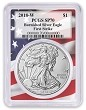 2018 W Burnished Silver Eagle PCGS SP70 - First Strike - Flag Frame - Presale