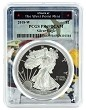 2018 W 1oz Silver Eagle Proof PCGS PR69 DCAM - West Point Frame