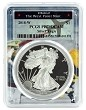 2018 W 1oz Silver Eagle Proof PCGS PR70 DCAM - West Point Frame