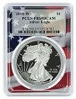 2018 W 1oz Silver Eagle Proof PCGS PR69 DCAM - Flag Frame