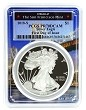 2018 S 1oz Silver Eagle Proof PCGS PR70 DCAM - First Day Issue - Bridge Frame