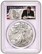 2018 1oz Silver Eagle PCGS MS70 - First Day Of Issue - Liberty Coin Act Label - 1 of 1000