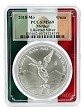 2018 Mexico 1oz Silver Onza Libertad PCGS MS69 - Flag Frame