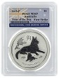 2018 Australia 1oz Silver Lunar Dog PCGS MS69 First Strike - Flag Label