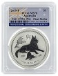 2018 Australia 1oz Silver Lunar Dog PCGS MS70 First Strike - Flag Label