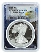 2018 W 1oz Silver Eagle Proof PCGS PR70 DCAM - Eagle Frame