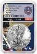 2018 W Burnished Silver Eagle NGC MS69 - First Day Issue - West Point Core