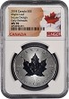 2018 Canada 1oz Incuse Design Silver Maple Leaf NGC MS70 - Early Releases - Flag Label