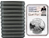 2018 W 1oz Silver Eagle Proof NGC PF70 Ultra Cameo - Early Releases - Liberty Coin Act Label - 10 Pack