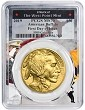 2019 $50 Gold Buffalo PCGS MS70 - First Day Of Issue - West Point Frame