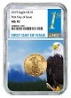 2019 $10 Gold Eagle NGC MS70 - First Day Issue - Eagle Core