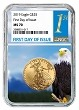 2019 $25 Gold Eagle NGC MS70 - First Day Issue - Eagle Core