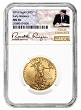 2019 $25 Gold Eagle NGC MS70 Early Releases - Gold Coin Act Label