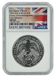 2019 Great Britain Queens Beast Falcon 2oz Silver Coin NGC MS69 Early Releases  - Flag Label