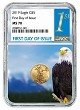 2019 $5 Gold Eagle NGC MS70 - First Day Issue - Eagle Core