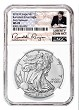 2019 W Burnished Silver Eagle NGC MS70 - Early Releases - Liberty Coin Act Label